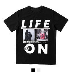 라이프온 전사프린팅 남자반팔티셔츠