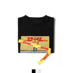 옐로 전사프린팅 7부 남자반팔티셔츠