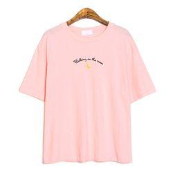 온 더문 자수 티셔츠
