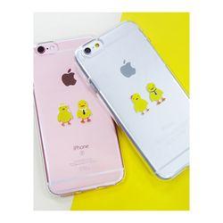 아이폰6플러스/6S플러스 병아리커플(젤리 케이스)