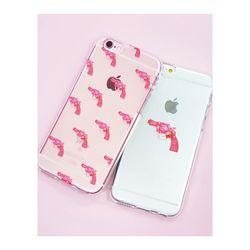 아이폰6플러스/6S플러스 핑크건(젤리 케이스)
