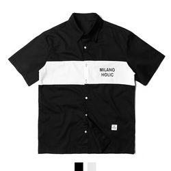 밀라노 프린팅 남자반팔셔츠