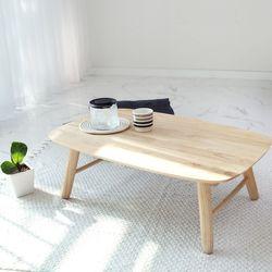 원목 라운디시 접이식 테이블 80