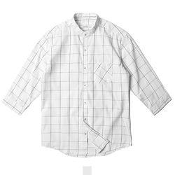 차이나카라 체크 7부 남자반팔셔츠