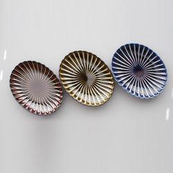 기야망 타원접시 중 1P - 3color