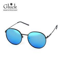 글륵 블랙 블루미러 원형 선글라스 GLS D52FJ80605P-C