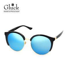 글륵 골드블랙 블루미러 원형선글라스 GLS D52FJ80507