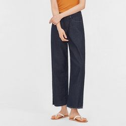 part wide denim pants