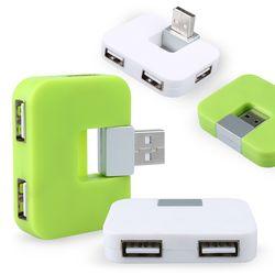 4Port 미니 USB허브2.0 (USB포트)ICLE15-097