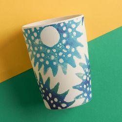 네덜란드 뱀부 하와이안 텀블러 대나무 컵