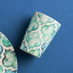 네덜란드 뱀부 모로칸 텀블러 대나무 컵