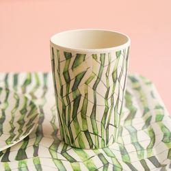 네덜란드 뱀부 스템 텀블러 대나무 컵
