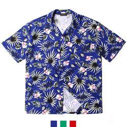 파파야 하와이안 오픈카라 오버핏 남자반팔셔츠
