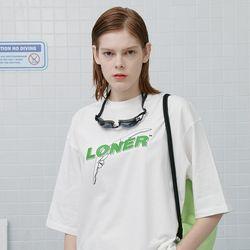 Diver loner tshirt-white