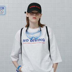 Summer diving club tshirt-white