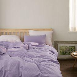 드리밍100수 고밀도 코튼 베딩-lavender(Q-기본세트)