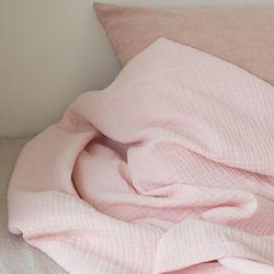밀크 3중 거즈 홑이불-baby pink(Q)