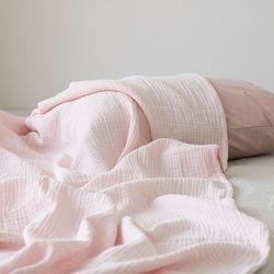 밀크 3중 거즈 홑이불-baby pink(Q set)