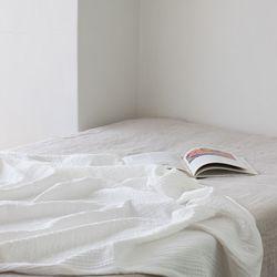 밀크 3중 거즈 홑이불-white(S set)
