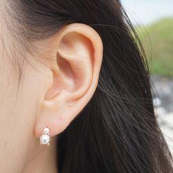 14k gold pearl bearl earring