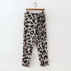 Leopard Wrap Baggy Pants