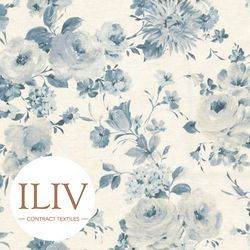 ILIV Amelie Fabric Wedgewood  영국수입원단 북유럽원단