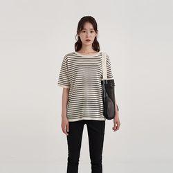 linen stripe half knit (4colors)