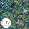 ILIV Rainforest Fabric Lagoon  영국수입원단 북유럽원단
