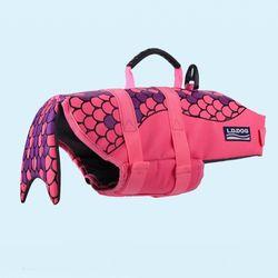 강아지 구명조끼 물고기모양-인어공주(핑크)-S size