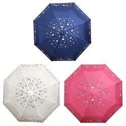 헬로키티 자동 3단 우산 55cm (쇼핑)(3color)
