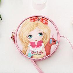 타이니돌리 에나멜 원형 크로스백