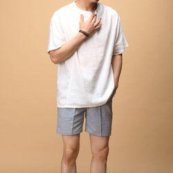 [매트블랙] 헨리 라운드 반팔 티셔츠