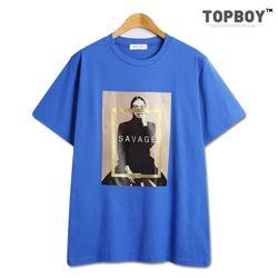 [탑보이] 반전사사베지 반팔 티셔츠 (TR806)