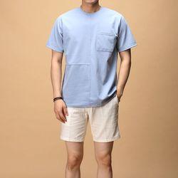[매트블랙] 포켓 절개 반팔 티셔츠
