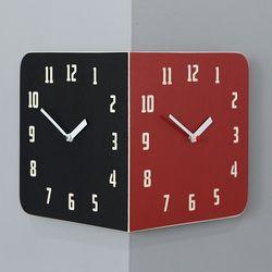 타임데코 핸드메이드 모던레트로 라운드 코너양면시계