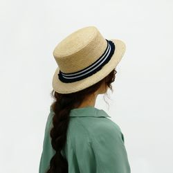 marin tassel panama hat (2 ribbon color)