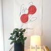 fabric poster  una (white)