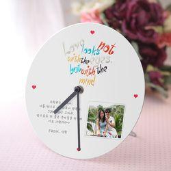 사랑이란 알루미늄 포토 원형시계