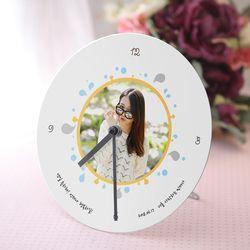 버블퐁 알루미늄 포토 시계