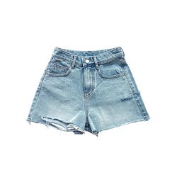 CUTTING POINT DENIM SHORTS
