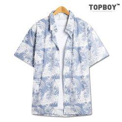 낙엽 오버핏 하와이안 셔츠 (SE054)