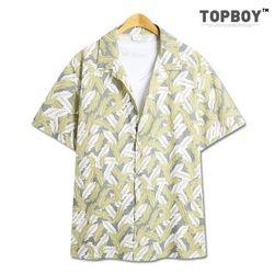리프 오버핏 하와이안 셔츠 (SE053)