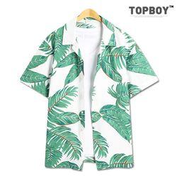 나뭇잎 오버핏 하와이안 셔츠 (SE052)