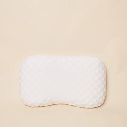 천연라텍스베개 땅콩지압형 + 선염블루그레이 겉커버포함