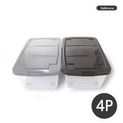 플라스틱 리빙박스 40L 4P세트(CN7492)
