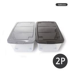 플라스틱 리빙박스 40L 2P세트(CN7529)