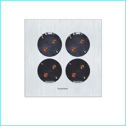 나노아트2 블랙 안전형 4구 콘센트