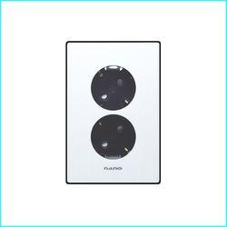 나노아트2 블랙 2구 콘센트