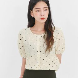 dot girlish blouse