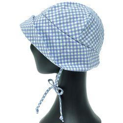 [더그레이]NKU30.깅엄체크 하이디 여성 벙거지 모자